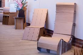 Exhibit features cardboard chairs