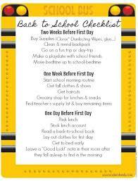 Checklist For School Back To School Checklist Your Modern Family