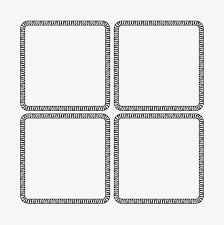 Border Word Border Frame Field Character Grid Black Png Image And