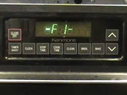 kenmore stove 1990. how to fix an f1 error on a kenmore or ge range stove 1990