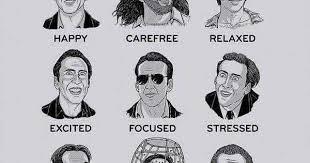 Nicolas Cage Emotion Chart Nic Cage Feelings Chart Album On Imgur