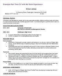 Part Time Jobs Resume Englishor Com