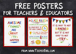 How To Design A Classroom Poster Free Classroom Posters Teepee Girl