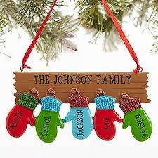 Personalize your Christmas tree with this decorative Personalized Family  Ornament With 5 Names - Warm Mitten