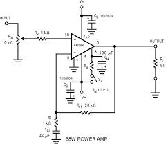 schematic wiring diagram 68w power amplifier using lm3886 68w power amplifier using lm3886