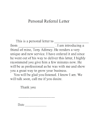 Cover Letter Referral Sample Cover Letter Employee Referral Sample From Friend Referred By A Le