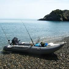 nifty boats inflatable fishing kayak side