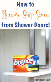 how to remove soap s from shower doors at thefrugalgirls com