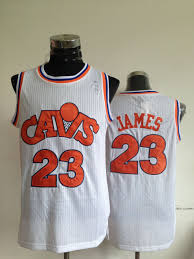 lebron throwback jersey. nba cleveland cavaliers 23 lebron james cavs authentic throwback white jersey r