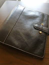 FRANKLIN COVEY CLASSIC Vintage Aurora Black Leather Binder 7 Rings Planner  - $150.00 | PicClick