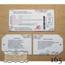 Dle Boarding Pass Wedding Invitation Design 165 Mycards