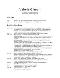 fine artist resume