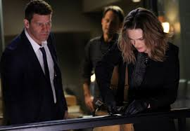 BONES Emily Deschanel R David Boreanaz L and guest star XXX.