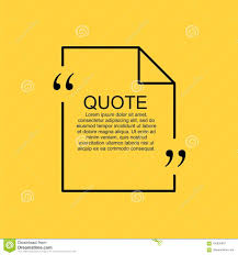 Quote Blank Template Stock Vector Illustration Of Citing 100835987