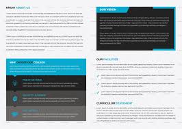 College Templates College Educational Brochure Template