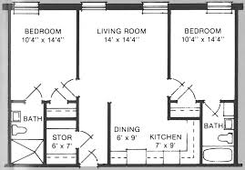 Small 2 Bedroom Cottage Plans Cool 500 Square Feet Apartment Floor Plan Home Decoration Ideas