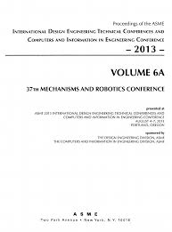 Proceedings of the ASME ... ; Vol. 6, 37th Mechanisms and Robotics ... ; A