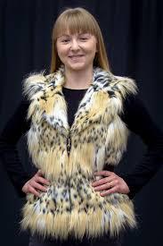 bobcat faux fur zip 23 vest