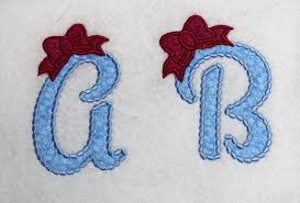 Girly Embroidery Designs Girly Alphabet Applique Design Monograms Letters Princess