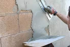 diy stucco exterior cinder block walls