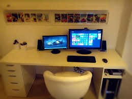 home office computer setup. Custom Desk W/ Tidy Green Backing Board \u0026 Audio Editing Setup. | For The Home Pinterest Desk, Desks And Interiors Office Computer Setup C