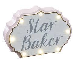 Baker Light Details About Novelty Star Baker Wooden Led Light Block