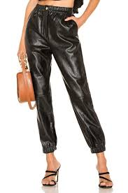 divine heritage fly front faux leather pant