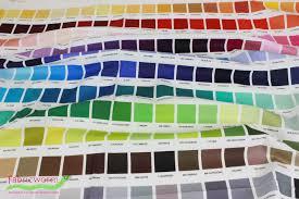 Robert Kaufman Kona Printed Color Chart Multi 24 Panel