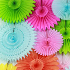 Hanging Paper Flower Backdrop Diy Party Decor Ideas Paper Fan Backdrop Paper Hanging Fans For