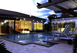 home swimming pools at night. Pool House Night Scene By Horacio Kramer Home Swimming Pools At