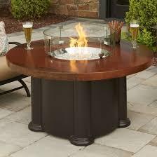 Outdoor GreatRoom Montego 5975 X 30 Rectangular Crystal Fire Pit Outdoor Great Room