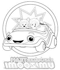 Umizoomi Coloring Page Team Bot Pages Free Printable Interactive