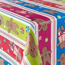 st nicholas square sugar e gingerbread tablecloth vinyl table cloth 70 round