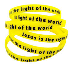 Jesus Is The Light Wristbands Amazon Com Cb Silicone Jesus Is The Light Of The World