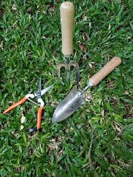 wooden handle garden tools set of