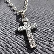 mens cross necklace engraved prettyuglyme
