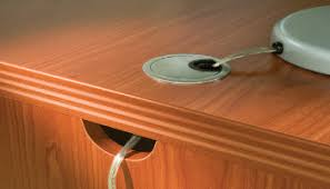 office desk cable hole. the advantages of using desk grommets office cable hole