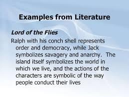 symbols for literature symbols com examples from literature