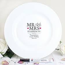 Mr Mrs Message Plate Personalized Wedding Giftspersonalised Wedding Guest Bookalternative