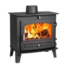 avalon 5 slimline defra aprroved woodburning stove with a stainless steel handle