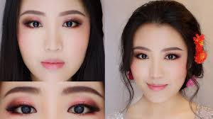 rose gold romantic makeup asian bridal makeup tutorial chocolate flower bridal makeup style