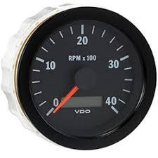 marine vision black rpm tachometer hour meter vdo marine vision black 4000 rpm tachometer hour meter