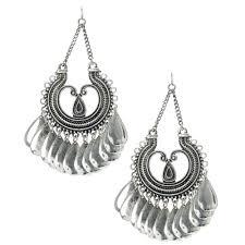 silver chandelier earrings antique silver oversized chandelier earrings