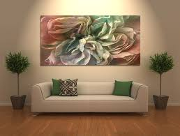 abstract flower art canvas print flower in home
