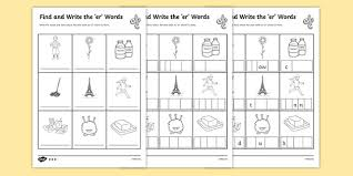 Specifically, to help support your teaching as you follow jolly phonics 1: Er Words Sounds Differentiated Worksheets Phonics 3