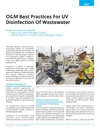 Uv Light Wastewater Treatment Best Practices For Uv Wastewater Disinfection Systems
