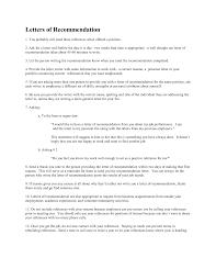 Personal Recommendation Letter Sample Resume Samples
