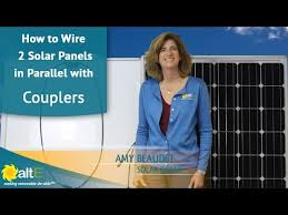 how to wire two solar panels in parallel couplers how to wire two solar panels in parallel couplers