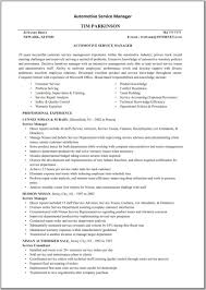 Automotive Service Manager Resume Templates Automotive Service Manager Resume Technical Template Cnc Supervisor 2