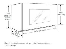 Under Cabinet Microwave Dimensions Regarding Plans Corner Kraftmaid Dimen  C76